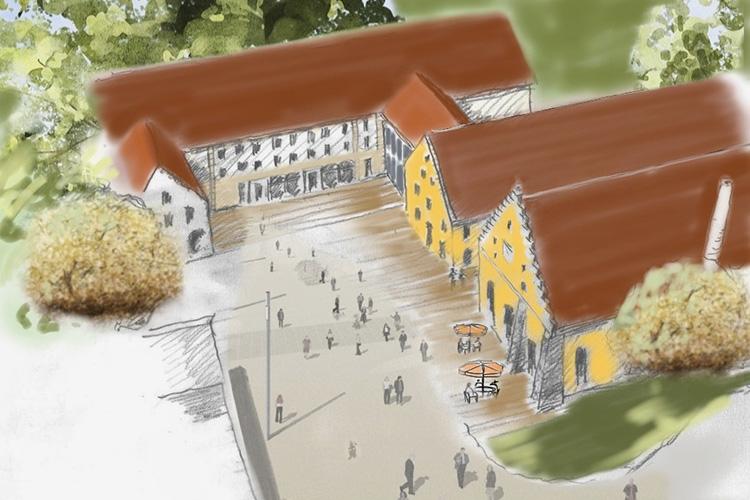 Zeichnung Neue Mitte Haag
