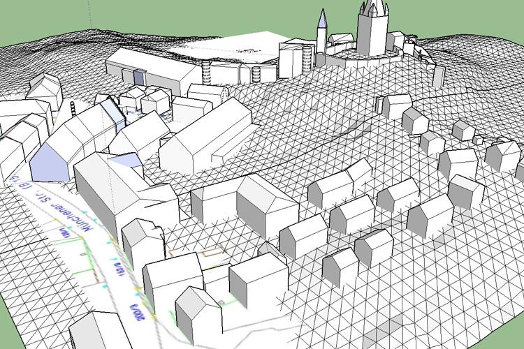 Modell Neue Mitte Haag