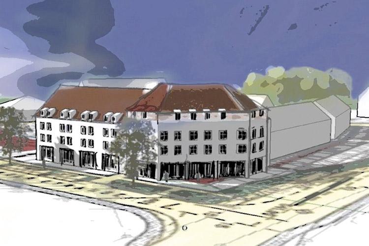 Zeichnung Rosenberger Tor, Haag